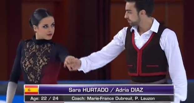 Sara y Adrià en el programa corto. Fuente: Avance Deportivo