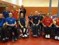 Los españoles de tenis de mesa en silla ruedas se ponen a punto