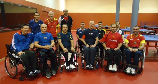El equipo español de tenis de mesa en silla de ruedas. Fuente: RFETM