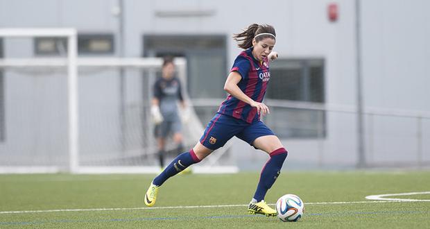 La jugadora azulgrana Vicky Losada hizo un gol desde fuera del área. Fuente: FC Barcelona