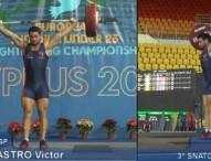 Víctor Castro y Andrés Mata, oro en el Europeo sub23 de Halterofilia