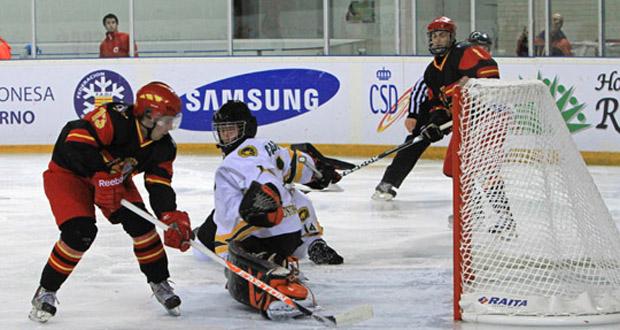 Partido de la selección española de hockey sobre hielo. Fuenet: Fedhielo
