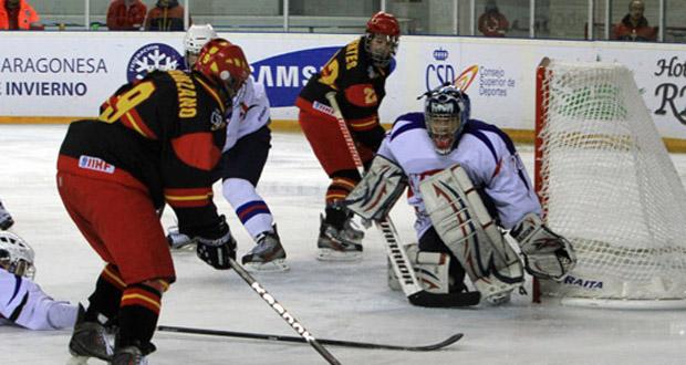 Partido de la selección española de hockey sobre hielo. Fuente: Fedhielo