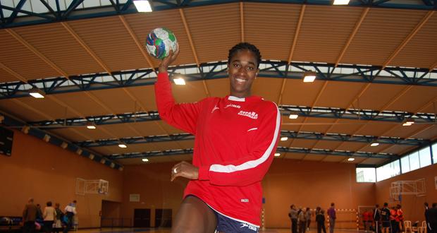 La jugadora de la selección de balonmano, Shandy Barbosa. Fuente: Laura Pérez