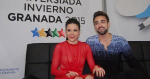 Sara y Adriá en el campeonato de España. Fuente: L.P.