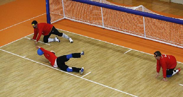 Imagen de un partido de la selección española de goalball. Fuente: Servimedia