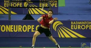 La jugadora madrileña en un torneo. Funete: Badminton Europe