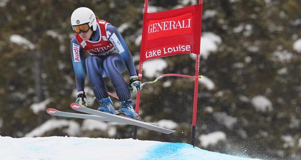 La esquiadora de Sierra Nevada, Carolina Ruiz, en la Copa del Mundo de Lake Louise. Fuente: @RFEDInv