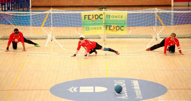 Un partido de la selección española de goalball. Fuente: AD