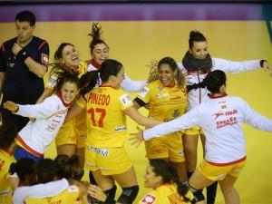 La celebración de las 'guerreras'. Fuente: EHFeuro2014