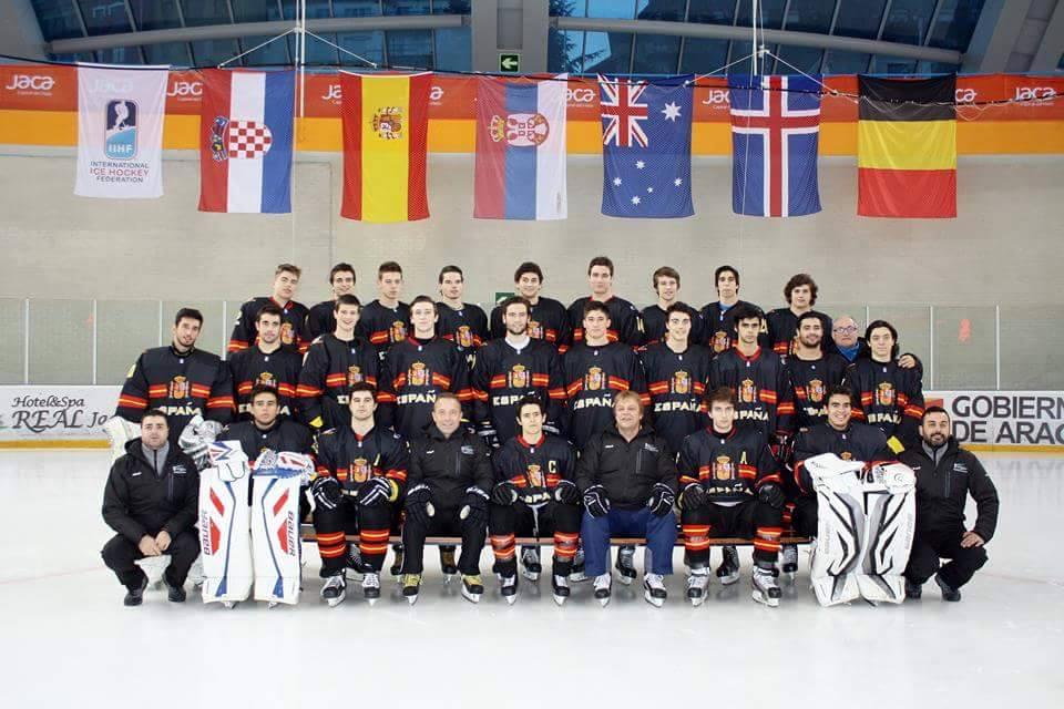 Selección española de hockey hielo sub20. Fuente: Fedh
