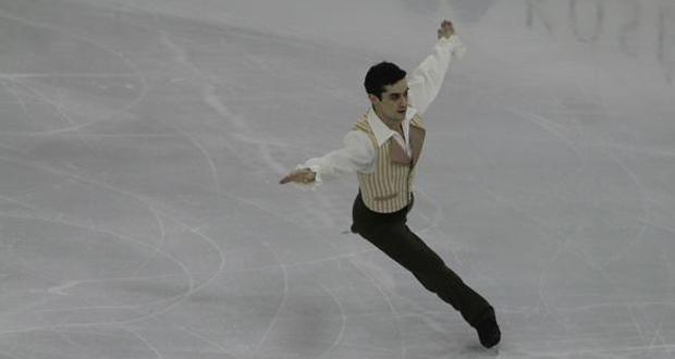 El patinador español, Javier Fernández, durante su programa largo. Fuente: GPF2014 Barcelona