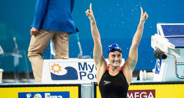 La nadadora española, Mireia Belmonte, en el Mundial de piscina corta en Catar. Fuente: FINA