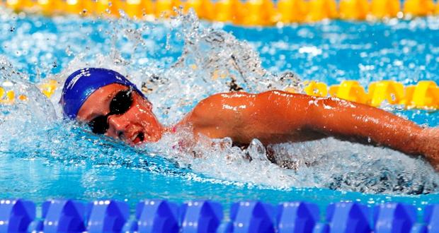 La nadadora española Mireia Belmonte en una competición. Fuente: RFEN