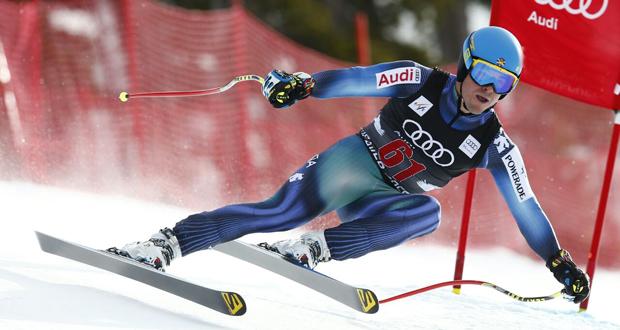 El esquiador donostiarra, Paul de la Cuesta, durante una prueba. Fuente: Paul de la Cuesta