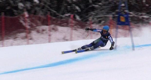 El esquiador donostiarra, Paul de la Cuesta, durante un descenso. Fuente: AD