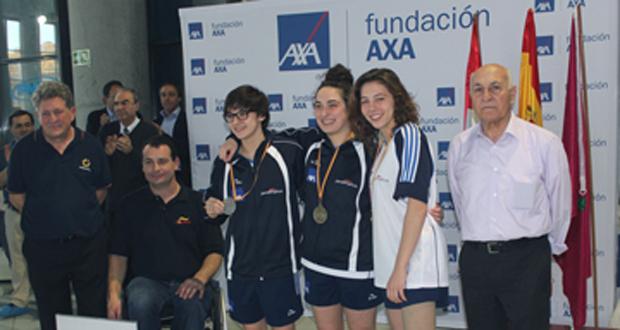 Podio en el campeonato de España de natación paralímpica de jóvenes. Fuente: CPE