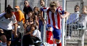 Amanda ante el Valencia. Fuente: A. Marín