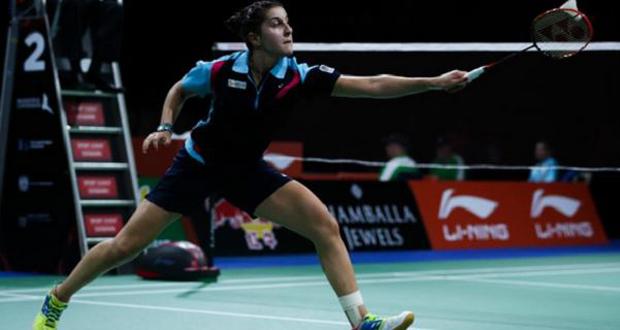 La campeona del mundo de bádminton, Carolina Ruiz, durante un partido. Fuente: Bádminton.es