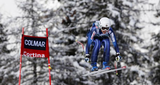La esquiadora española Carolina Ruiz, durante la Copa del Mundo de Cortina D'Ampezzo. Fuente: RFEDI