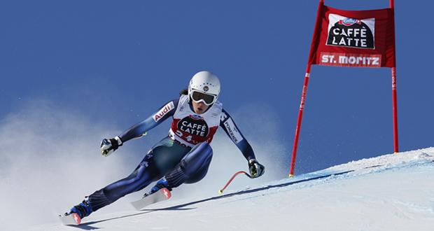 La esquiadora andaluza, Carolina Ruiza, en el descenso de St. Moritz. Fuente: Pentaphoto