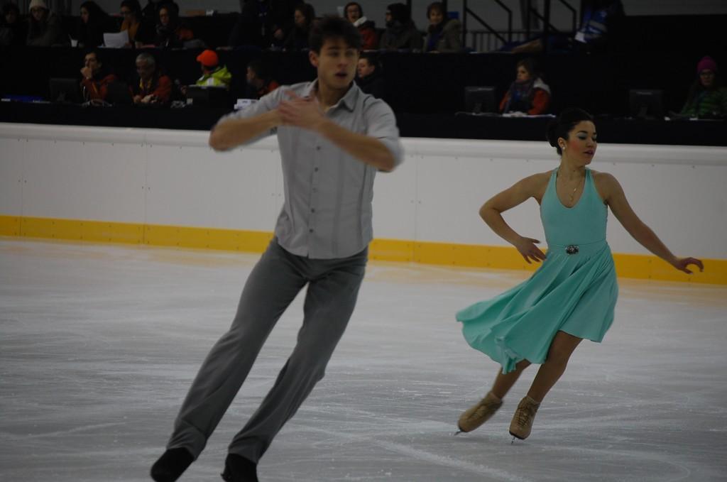 Celia Robledo y Luis Fenero durante el programa corto en el Campeonato de España en Granada. Fuente: LPT / Avance Deportivo