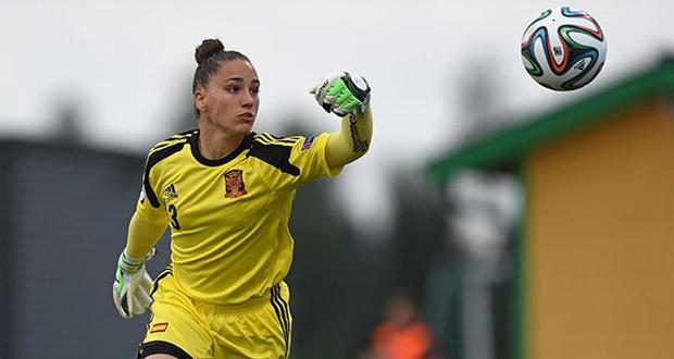 La guardameta del Sporting Huelva, Sara Serrat, novedad en la convocatoria de 'La Roja'. Fuente: Sefutbol