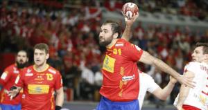 Joan Cañellas, jugador de la selección española de balonmano. Fuente: EFE