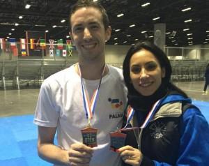 Rosillo y Yagüe. Fuente: Fed. Balear Taekwondo