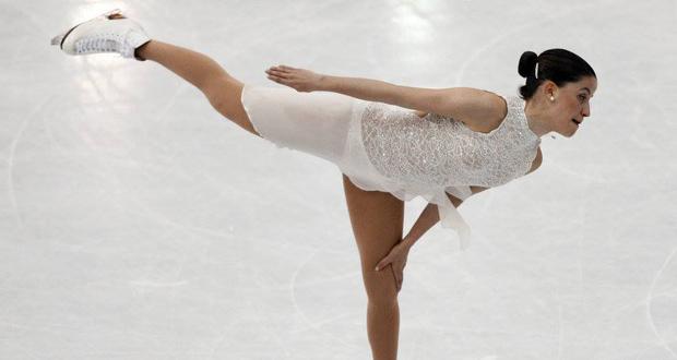 La patinadora española, Sonia Lafuente, durante la competición. Fuente: Fedhielo