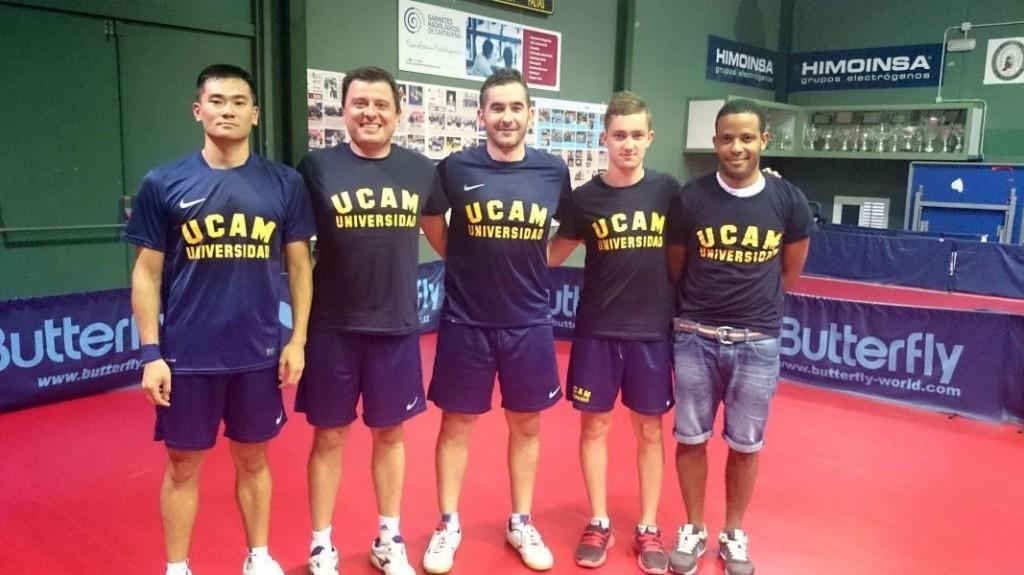 El UCAM Cartagena al frente de la Superdivisión Masculina de Tenis de Mesa. Fuente: Rfetm