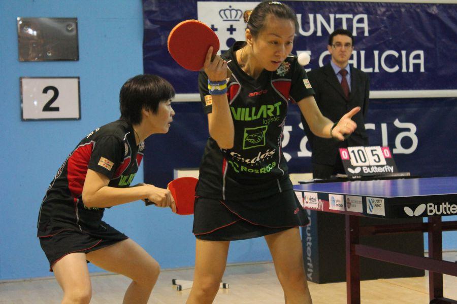 Tingting Wang y Yanlan Li, jugadoras del Balaguer Villart Logistic. Fuente: Rfetm