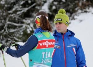Victoria Padial y su entrenador Alex Nappa. Fuente: AD