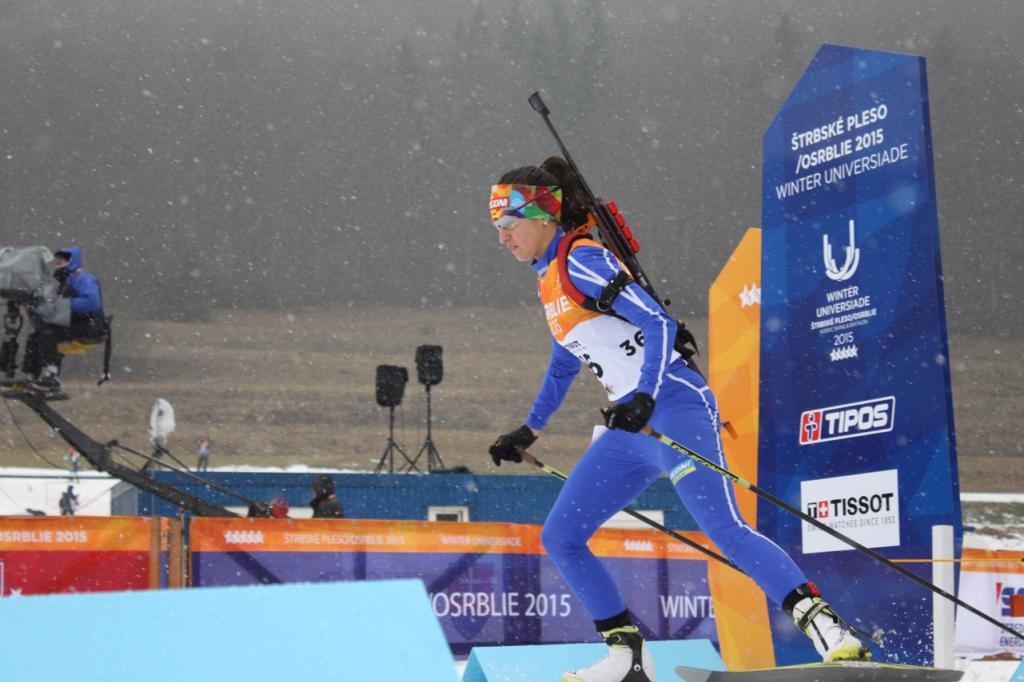 Victoria Padial, 1ª prueba Universiada 2015. Fuente: AD