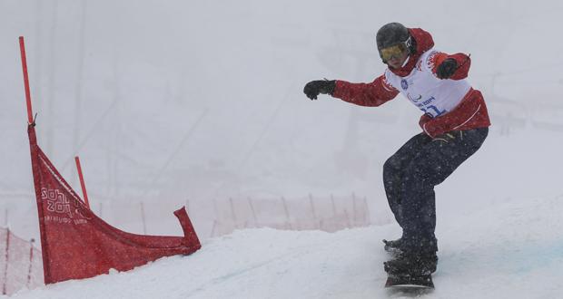 El 'rider' español Urko Egea durante una bajada en Sochi. Fuente: CPE