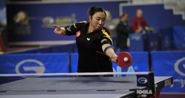 La jugadora española Yanfei Shen, durante un partido. Fuente: ittfworld