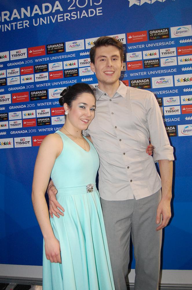 Celia y Luis en la Universiada. Fuente: LPT/Avance Deportivo