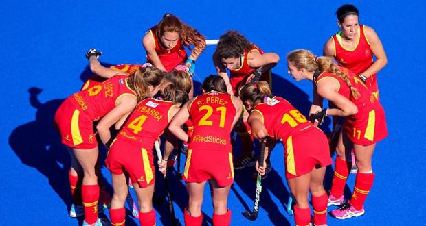Las jugadoras de la selección española de hockey hierba. Fuente: RFEH