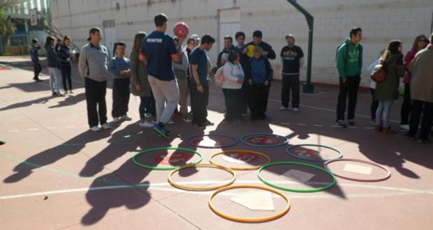 Algunos de los participantes en el evento organizado por alumnos de TSAAFD de La Rosaleda. Fuente: AD
