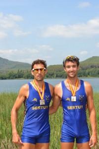 Jesús González, Suso (izquierda). Fuente: Rowing Nino