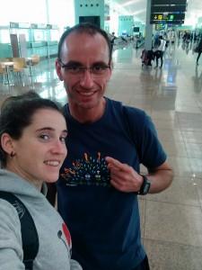 Marta y su entrenador Tino. Fuente: Marta García-Miguel