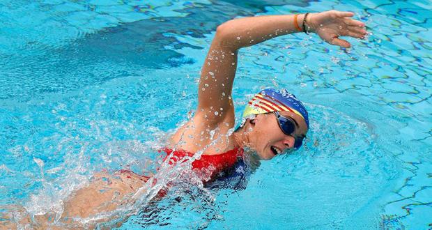 La pentatleta española, Marta García-Miguel, en la prueba de natación. Fuente: MGM