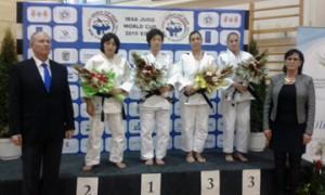 Mónica Merenciano en el podio. Fuente: CPE