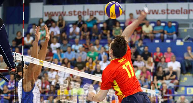 La selección española de voleibol busca una plaza en el Europeo. Fuente: RFEVB