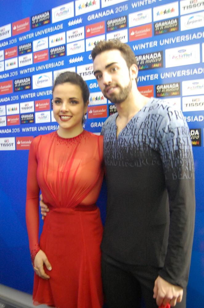 Sara y Adriá en la Universiada. Fuente: LPT/Avance Deportivo