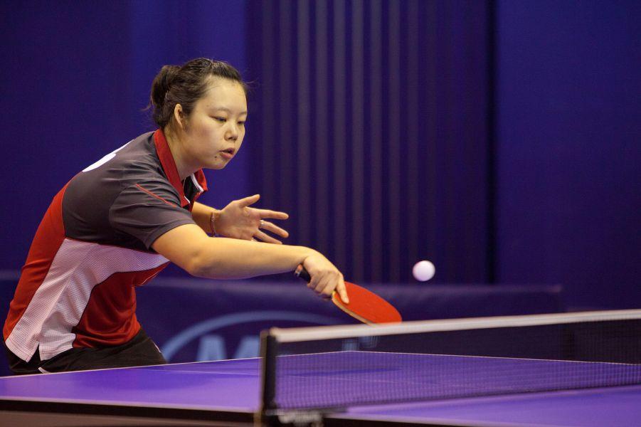 Zhipei Wang, jugadora del Vic TT. Fuente: David Fajula / Rfetm