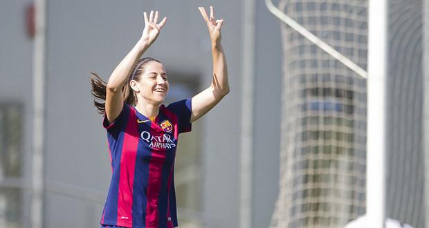 La centrocampista del FC Barcelona, Vicky Losada, autora de 2 goles. Fuente: FCB