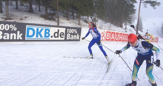 La biatleta granadina, Victoria Padial, durante la Copa del Mundo de Noruega. Fuente: VP