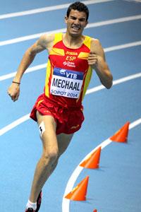 Adel Mechaal con la selección. Fuente: RFEA