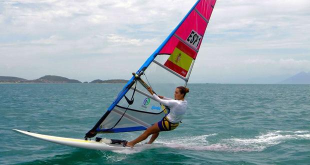 La windsurfista andaluza, Blanca Manchón. Fuente: AD